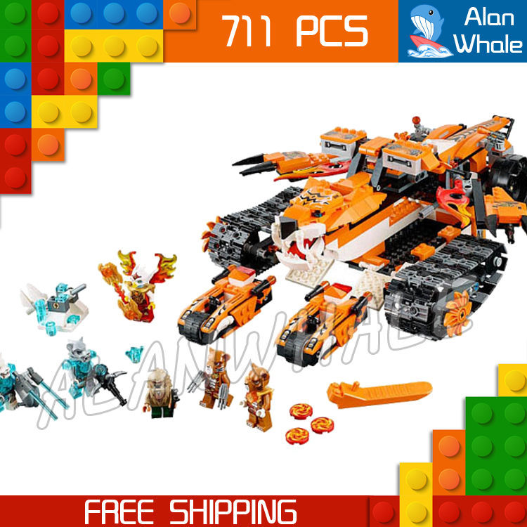 711pcs Tiger's Mobile Command Amazing Tiger Ice Tank 10357 Figure Building Blocks Children Toys Boys  Compatible with LegoING-in Blocks from Toys & Hobbies