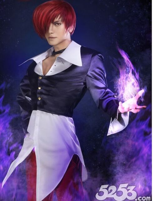 the king of fighters iori yagami cosplay costume customized in game