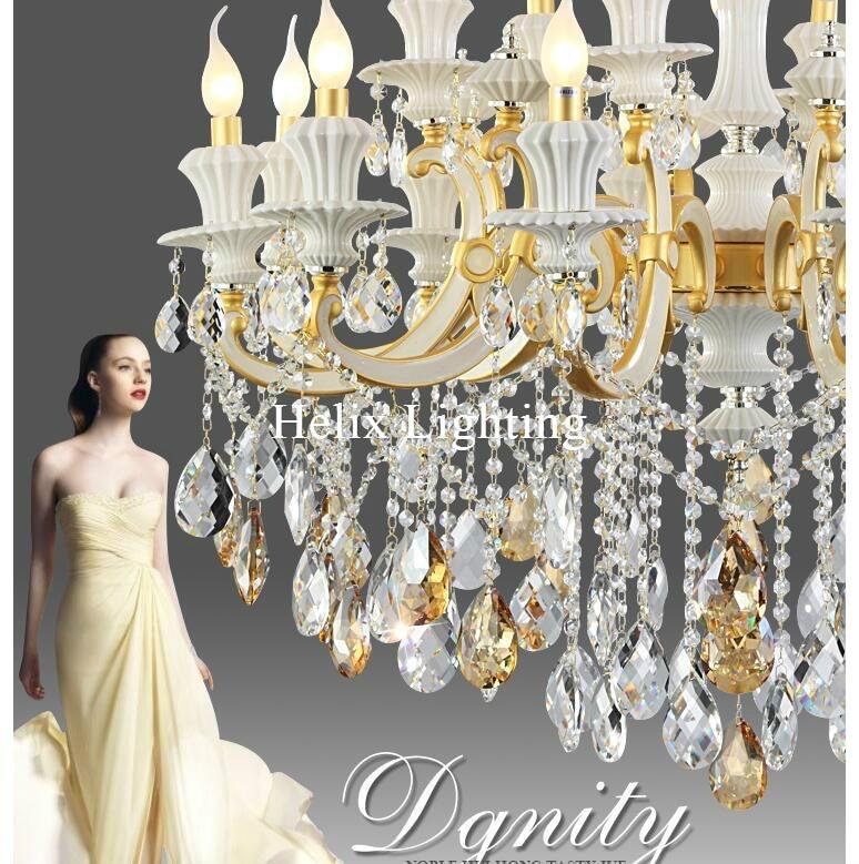 Jaunas ierašanās luksusa nefrīta lustras D105cm cinka sakausējuma - Iekštelpu apgaismojums - Foto 3