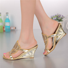 2016 Summer Hot Style Women's Shoes Heel Wedges Heels Peep Toe Slippers Sandals Clogs & Mules Outdoor Size 11 Free Shipping