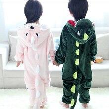 Новинка; Пижама с динозавром для мальчиков и девочек; От 3 до 12 лет одежда с длинными рукавами для маленьких девочек; ночная рубашка с динозавром для мальчиков; милая детская пижама; Infantil