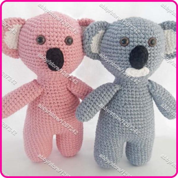 Crochet newborn patrón de juguete para Amigurumi Koala oso de ...