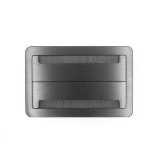 Image 3 - Настольная розетка JOHO, алюминиевая черная/серебристая Панель европейского стандарта, открытый тип, настольная электрическая розетка с аудиоразъемом VGA HDMI