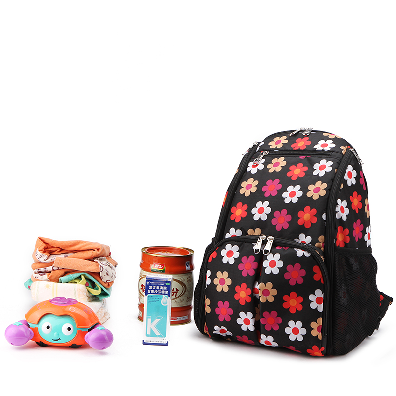 Mommy Travel Nappy Diaper Backpack Parent Child Bag Flower Dot Waterproof Multifunction Stroller Backpacks Bags