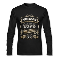 Custom Made T Shirts Men 40th Birthday Gift Classic 1978 Aged Clothes Camisetas Long Sleeve T