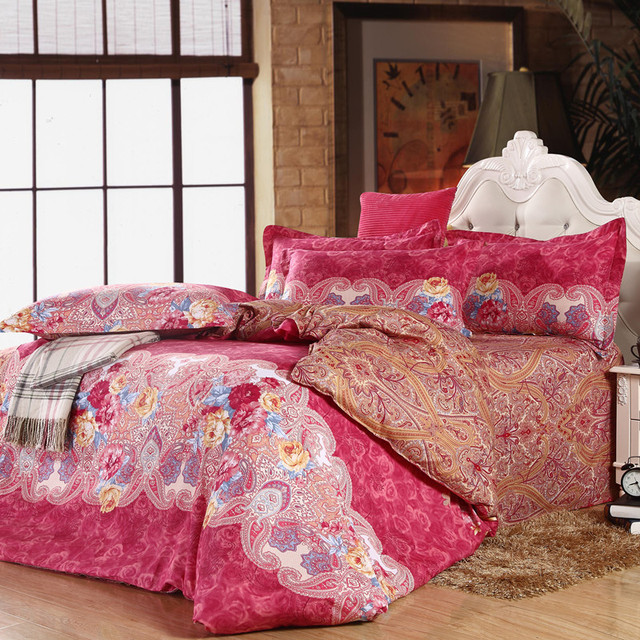 Hot sell Fragrant Pinnacle Series Twill Bedding Cotton Bed linen Quilt cover 4 pcs Bedding set Small order Wholesale