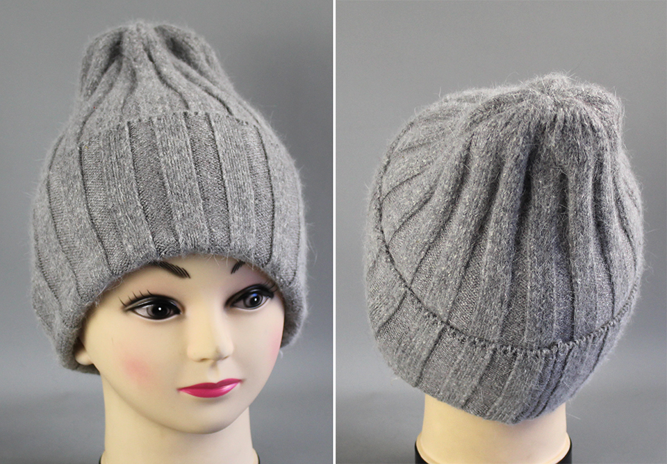 Thick Winter Hats For Women angora Beanies Hat knitted wool warm Beanie With Back Opening 2018 New (2)