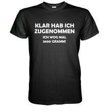 Klar Hab Ich Zugenommen S-5Xl T-Shirt Spaß-Hemd Spruch Geschenk Party Geburtstag 2019 Mode Baumwolle Slim Fit Männer Gedruckt shirts