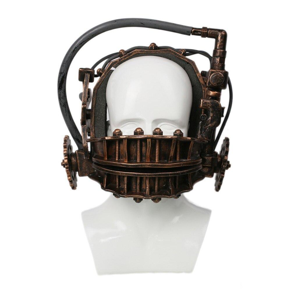 mandíbula bronze máscara resina 5