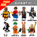 Mini Glam Metal Batman Película figuras Dick Grayson Catman Orca Asilo Joker Marzo Harriet Rey Tut Comisionado Gordon Compatible