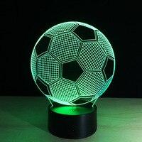 Ins Hot Acrylic Football Led Night Lights Multicolour Baby Accompany Lamp Bedroom Bedside Night Lamp Desk Decoration Lamp