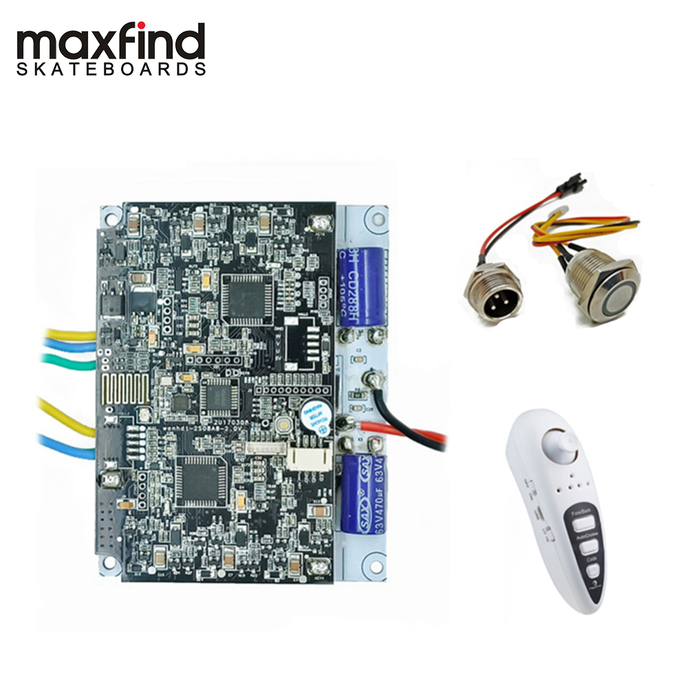 Maxfound Poweful 1000 W double moteur planche à roulettes électrique avec télécommande et bricolage moteur Kit pour Longboard électrique (double entraînement)