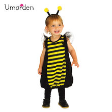 Umorden Carnival Party Halloween Costumes Child Kids Lovely Honeybee Bee Costume Cosplay for Girls Boys Fancy Dress Outfit