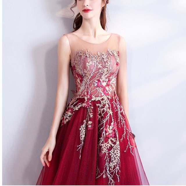 Abiti Da Sera Online Shop.Online Shop Evening Dress 2019 Long Red Formal Dress Women Elegant