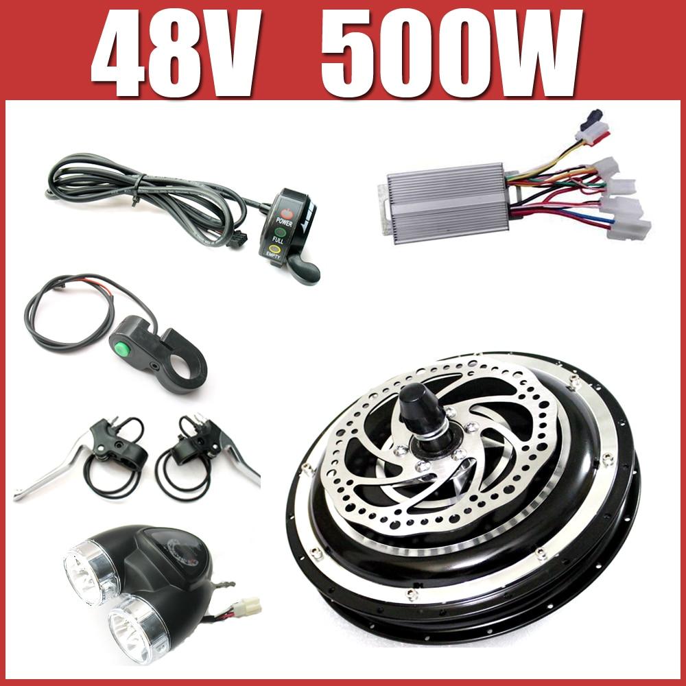 48v 500w electric bike disc brake kit dc hub motor for 500w hub motor kit