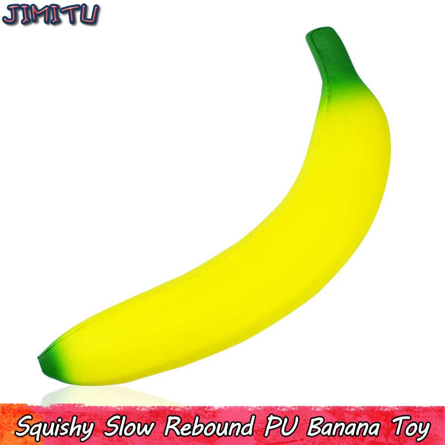 Juguetes blandos de plátano Anti estrés para niños, juguetes de descompresión de rebote lento, Juguetes Divertidos antiestrés, juguetes de crecimiento lento