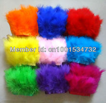 Free Shipping 10Yards 15-18cm width mix 5color Marabou Feather trimming Turkey Feather trim fringe Skirt Dress Carnival custome