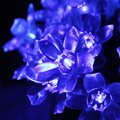 Blue Solar Party Decorations Blossom Decorative Flower String Lights Water Proof (Includes 50 LED Lights)