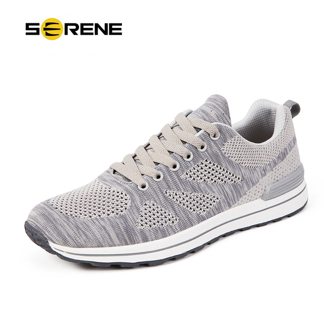 SERENE 2017 Plus Size 35-47 Men Casual Shoes 15 Colors Spring Autumn Shoe Breathable Mesh+Knitting Stitching Lace-up Shoes 7132