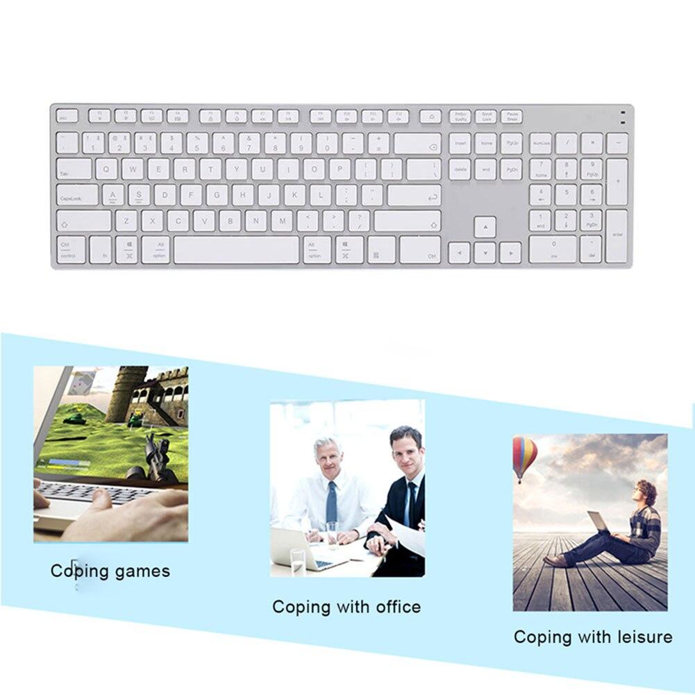 Alliage d'aluminium sans fil Bluetooth 3.0 clavier pour tablette ordinateur portable Support de téléphone iOS Windows système IJS998