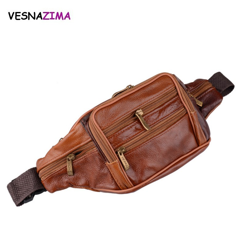 Men's Multifunctional PU Leather Waist Pack Women Portable Chest Bags Mini Shoulder Bag Phone Money Purse Bag Chain Strap W646Z