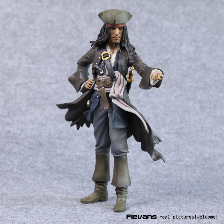 Crazy Toys Pirates of the Caribbean Jack Sparrow PVC Action Figure Collectible Model Toy 12 30cm loz pirates of the caribbean jack salazar mini blocks brick heads figure toy assemblage toys offical authorized distributer