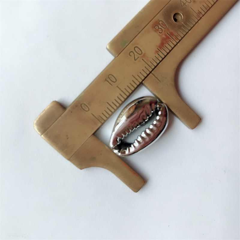 14-19 ミリメートル 19-25 ミリメートル混合ナチュラルシェルゴールド diy オーガニックハンドメイドビッグ小型貝殻家の装飾 100 個