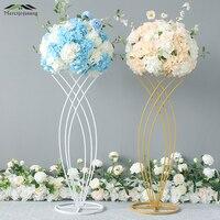 2Pcs/Lot Flower Vases Table Metal Vase Plant Dried Floral Holder Flower Pot Road Lead for Home/Wedding Corridor Decoration G096