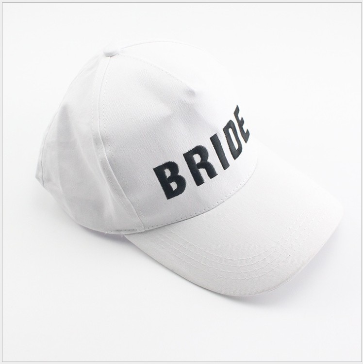 d53939109dbb Aliexpress.com : Buy free shipping 5pcs wedding favor bridesmaid gift bride  squad letter print Baseball cap black white adult party gifts for guest  from ...