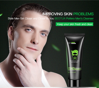 man facial cleanser acne blackhead pore cleansing Whitening moist oil control pore cleaner face wash bamboo facial cleansing oil