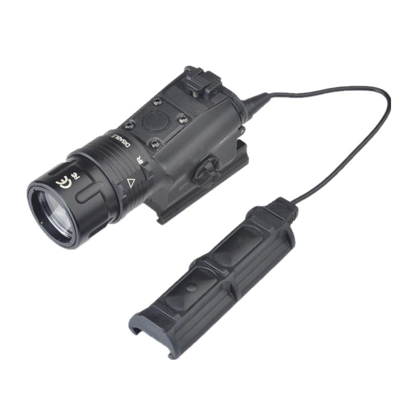 Ellm 01 Lampe Torche à Led Militaire Torche Cree Q5 Lampe De Poche Rouge Laser Noir