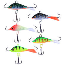 5Pcs Fishing Lure Artificial Flexible Fishing Tackle Tool Bait Hooks for Yellow Perch(China)