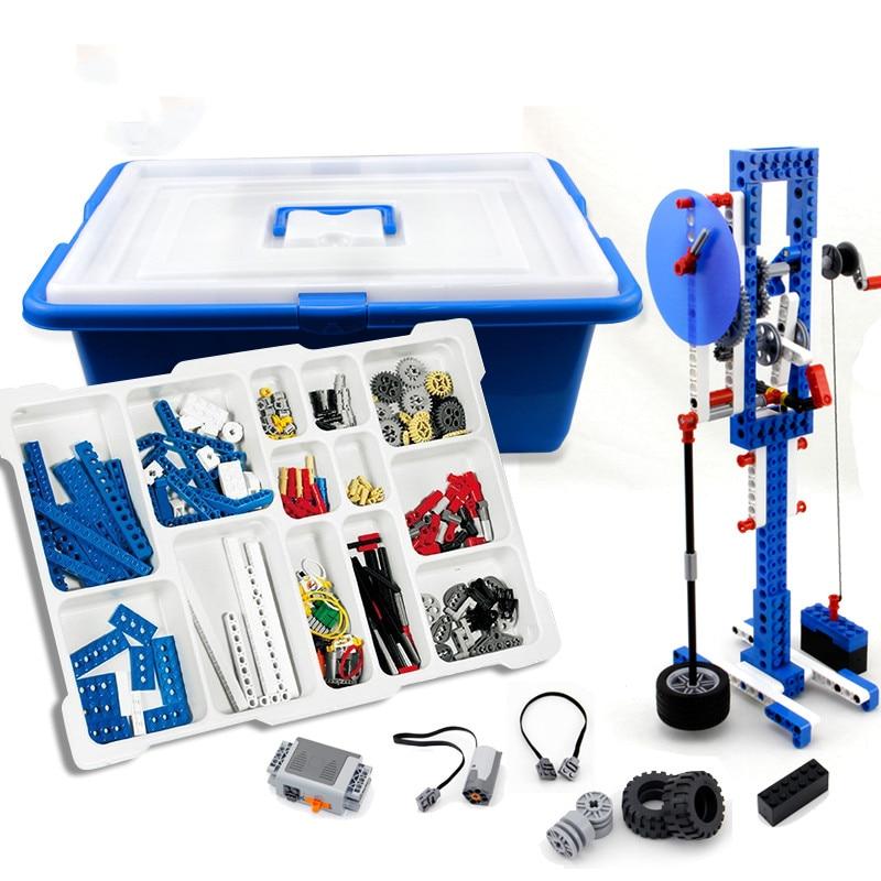 Compatible avec LEGOing MOC 9686 pièces de rechange technologie domestique blocs de construction ensemble d'aide pédagogique mécanique boîte de batterie de moteur