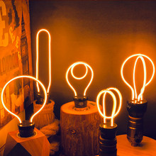 Novedades-lámpara de señal de neón, luz nocturna E27, bombilla LED de 2020 V, 5W, 8W, 220V, luces decorativas para boda, decoración de Navidad, novedad de 220
