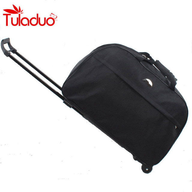 2017 Wheel Luggage Bags Metal Trolley Bag Women Handbags Travel Bags Hand Trolley Unisex Bag Large Capacity Travel Suitcase Sac