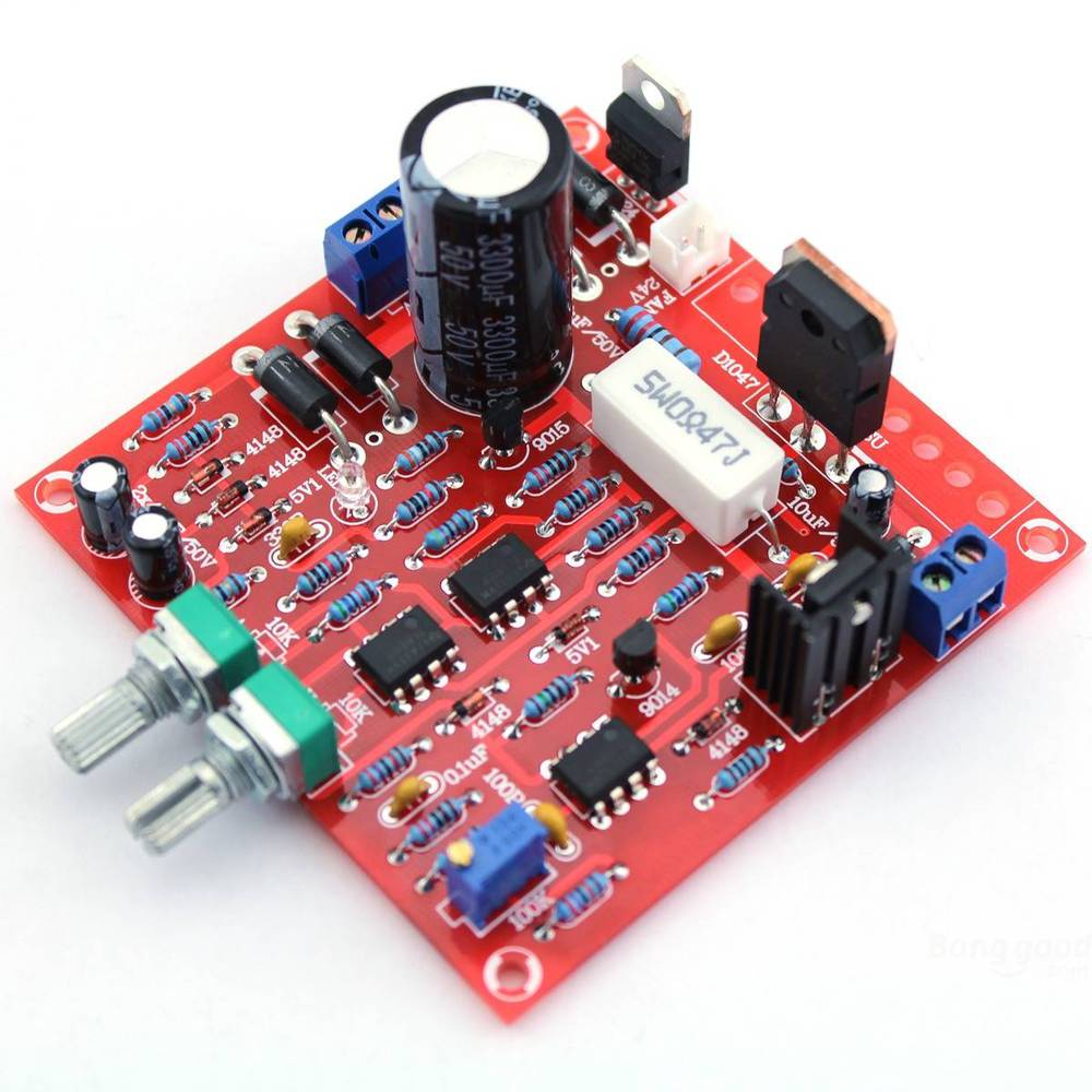 Factory Free Shipping 0 30V 2mA 3A Adjustable DC Regulated Power Supply DIY Kit Short Circuit