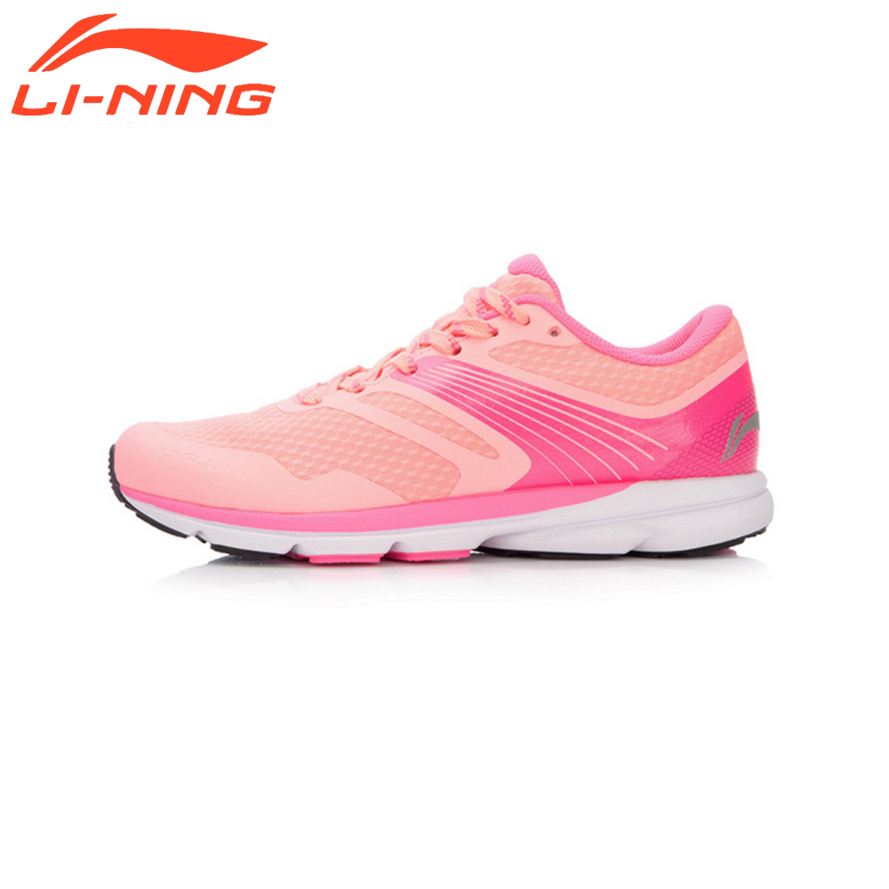 Li-Ning Women Smart Running Shoes Cushioning SMART CHIP Sneakers LiNing Rouge Rabbit Series Breathable Sports Shoes ARBK086 original li ning men professional basketball shoes