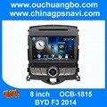 Áudio do carro DVD rádio de navegação gps para BYD F3 2014 com MP3 AUX USB Russo 2015 livre Rússia mapa