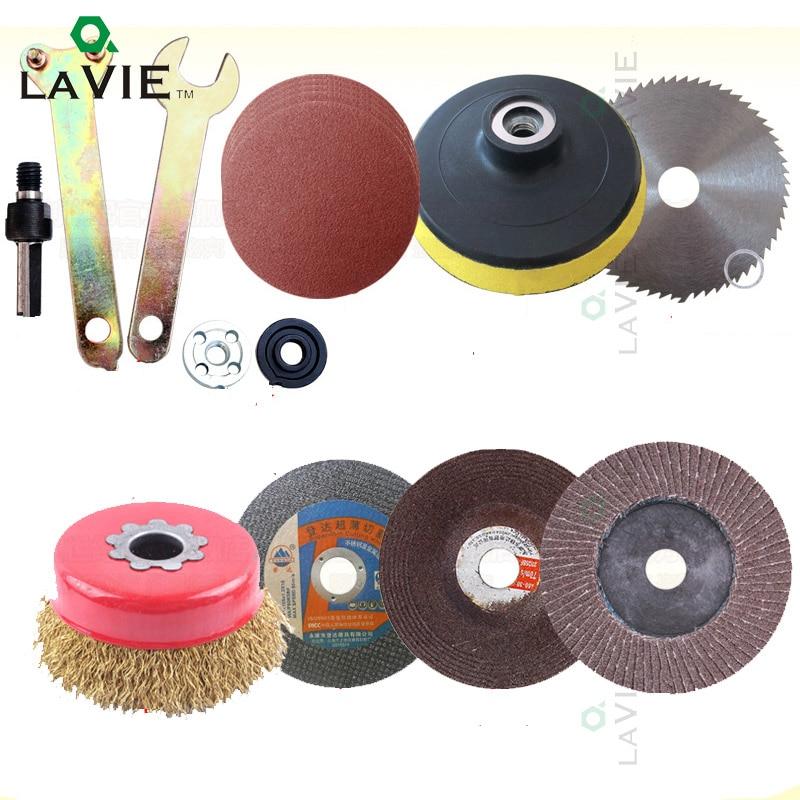 цена на LA VIE 12pcs Disc Polishing Wheel Wood Saw Blade Wire Wheel Abrasive Paper Electric Drill Angle Grinder Connecting Rod Cut Metal