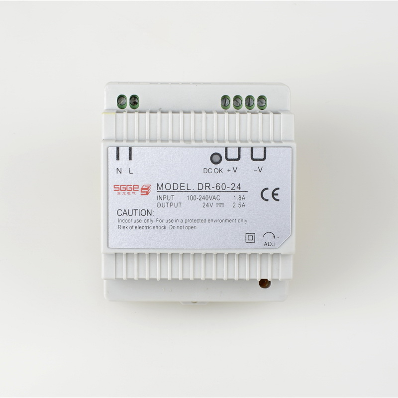 DR-60 60W 24V  2.5A Din rail Single Output Switching power supply  ac dc converter SMPS ac dc dr 60 5v 60w 5vdc switching power supply din rail for led light free shipping