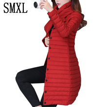 smxl Coat Ultra keep warm white Duck Down Jacket x-Long Female Overcoat Slim Solid Jackets Winter Coats Parkas Padded