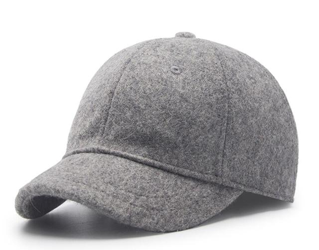 87d8e65d9bd 30pcs Men Plain Wool Blended Short Peak Baseball Caps for Fall Winter Women  Blank Base Ball Cap Short Bill Ball Hats Wholesale