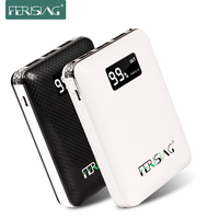 Ferising Real 10400 mAh Power Bank Externe Fast Charger Drie USB Outdoor Backup Draagbare Powerbank met LED Display PB-104