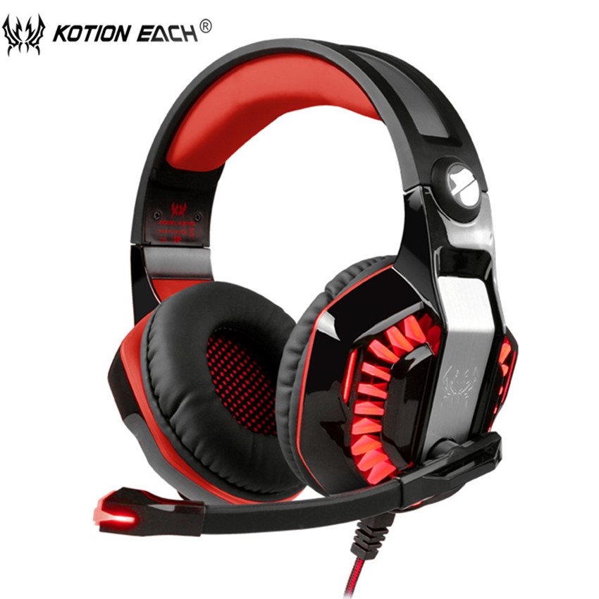 KOTION EACH G2000 Upgrade Gaming Headphones for Computer Over Ear PC Gamer Headset gaming Bass Casque With Microphone Led Light gaming headset led light glow noise cancealing pc gamer super bass headband headphones with microphone for computer pc