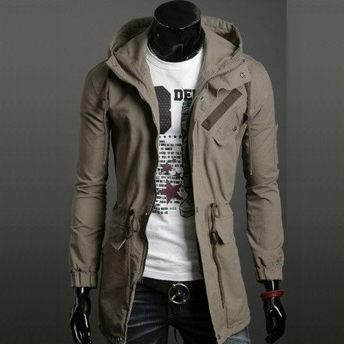 Trench Coat Mens Long Jackets for Male British Style Overcoat ...