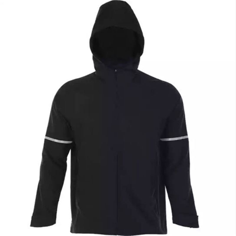 Vansydical Running Jackets Men's Fitness Sportswear Outdoor Hooded Windproof Zipper Thin Jacket Gym Training Tops XXXL