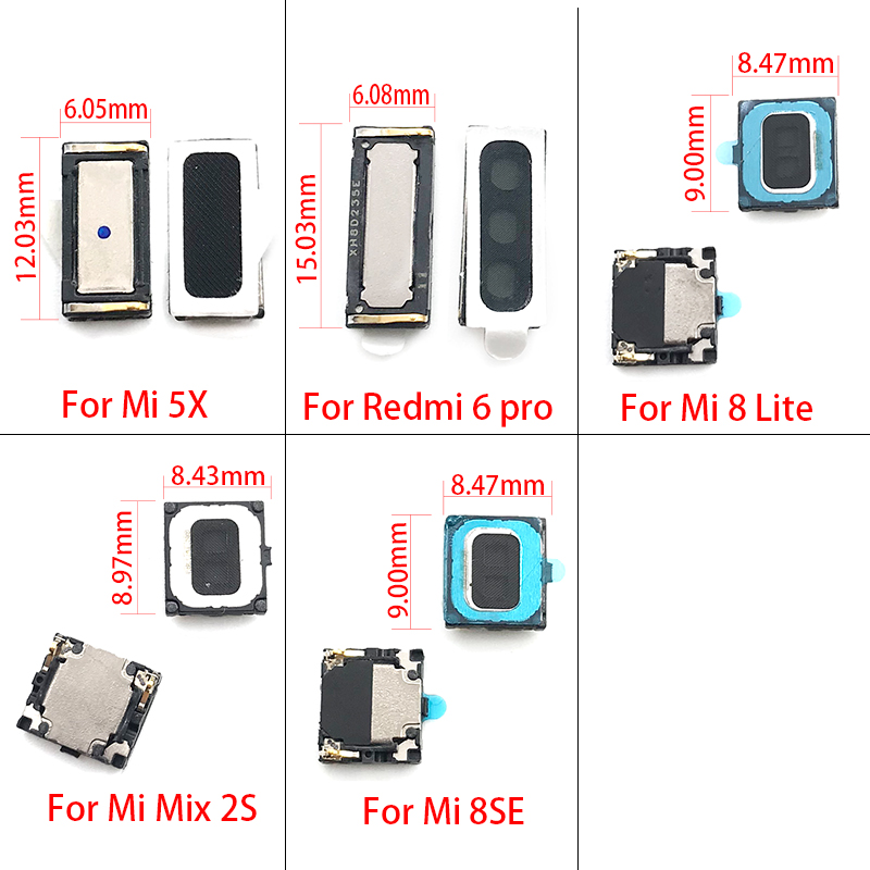 10 Pcs/lot New For Xiaomi Mi A1 5X / 8SE / MIX 2S / MI8 Lite /  Redmi 6 Pro A2 Lite Earpiece Ear Speaker Flex Cable Replacement