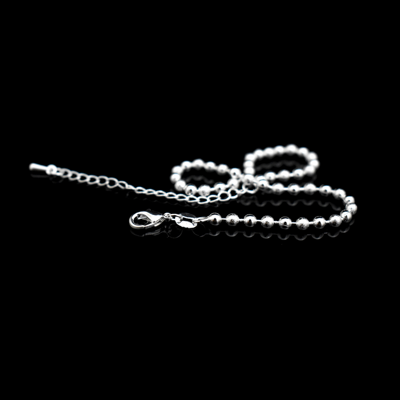 New Classic Simple Small Round Ball Bead Anklets Foot Chain For 925 Sterling Silver Ladies Foot Anklet Bracelet Women Jewelry 3