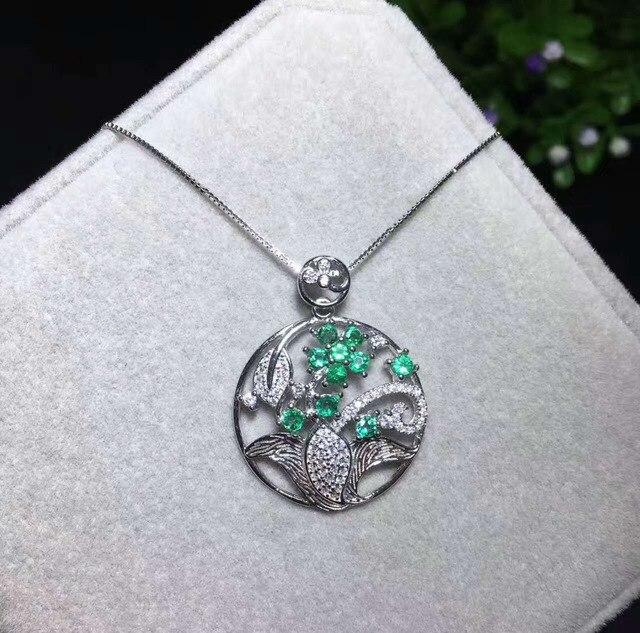 d0d8c6c853fe Colgante de Esmeralda verde natural COLLAR COLGANTE de piedras preciosas  naturales Plata de Ley 925 elegante