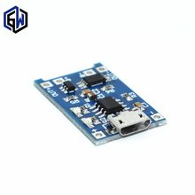 1PCS 5V TENSTAR ROBOT 1A Micro USB 18650 Lithium Battery Charging Board Charger Module+Protection Dual Functions TP4056(China)